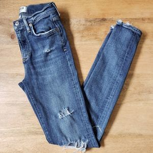 Agolde Sophie High Rise Distressed Medium Wash 25